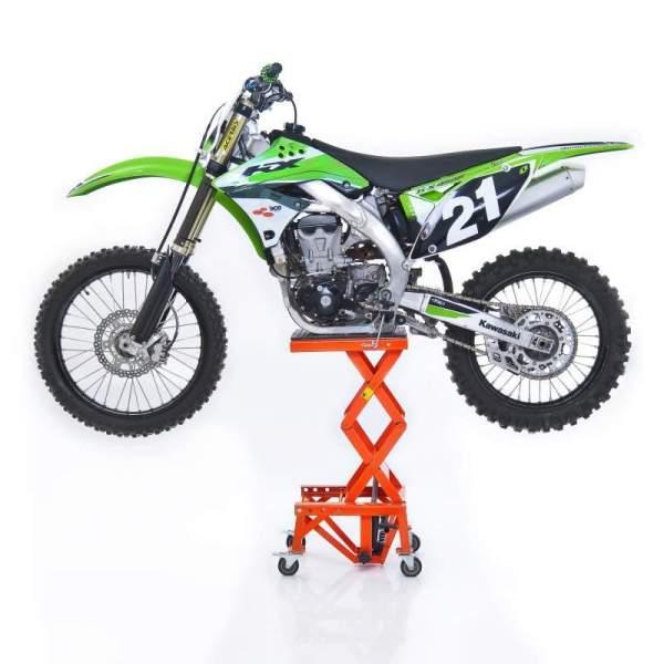 Cric hidraulic central ConStands Moto Cross XL deplasabil portocaliu