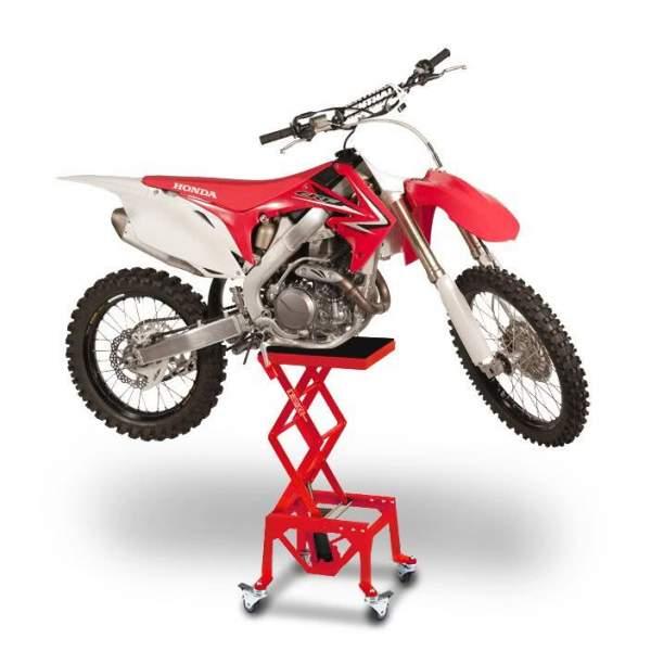 Cric hidraulic central ConStands Moto Cross XL deplasabil rosu